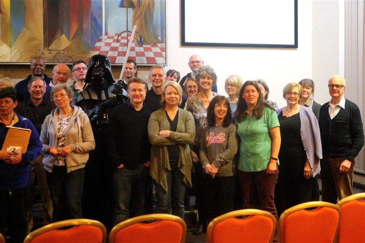 The Rebel Alliance team with Darth Vader
