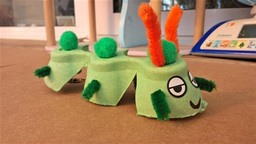 Messy Caterpillar Craft