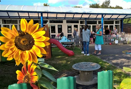 Messy Church sunflower