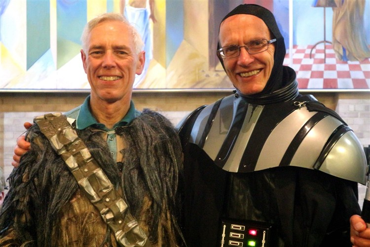 Chewbacca and Darth Vader revealed... it's Richard and Chris!