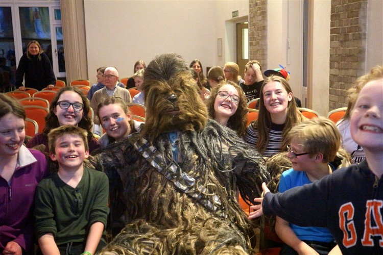 Chewbacca and his fan club