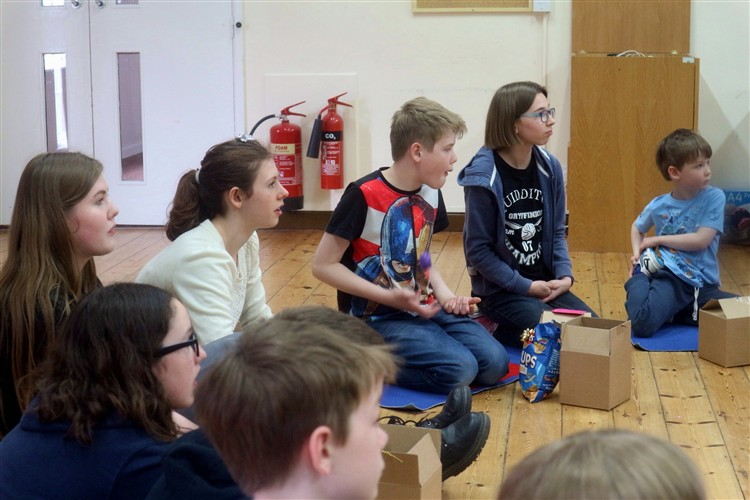 The children and young people were each given a gift box